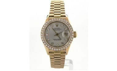 Rolex DateJust 69138 18k Original Diamonds Dial & Bezel Ladies Yellow Gold Watch