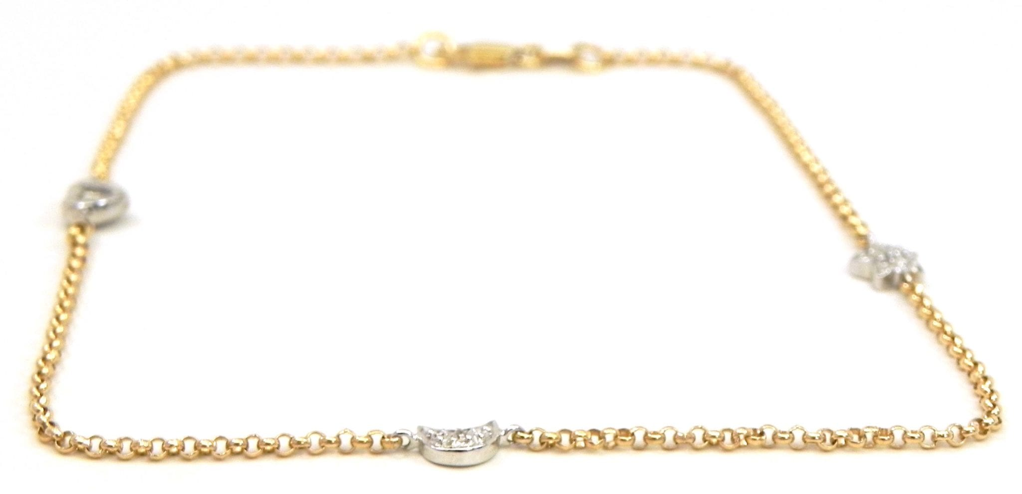 gold kojis women s in anklet diamond white bracelet tennis lyst jewelry
