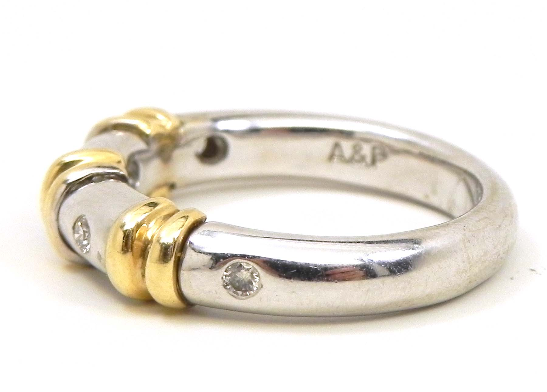 85 two tone wedding bands 14k two tone gold