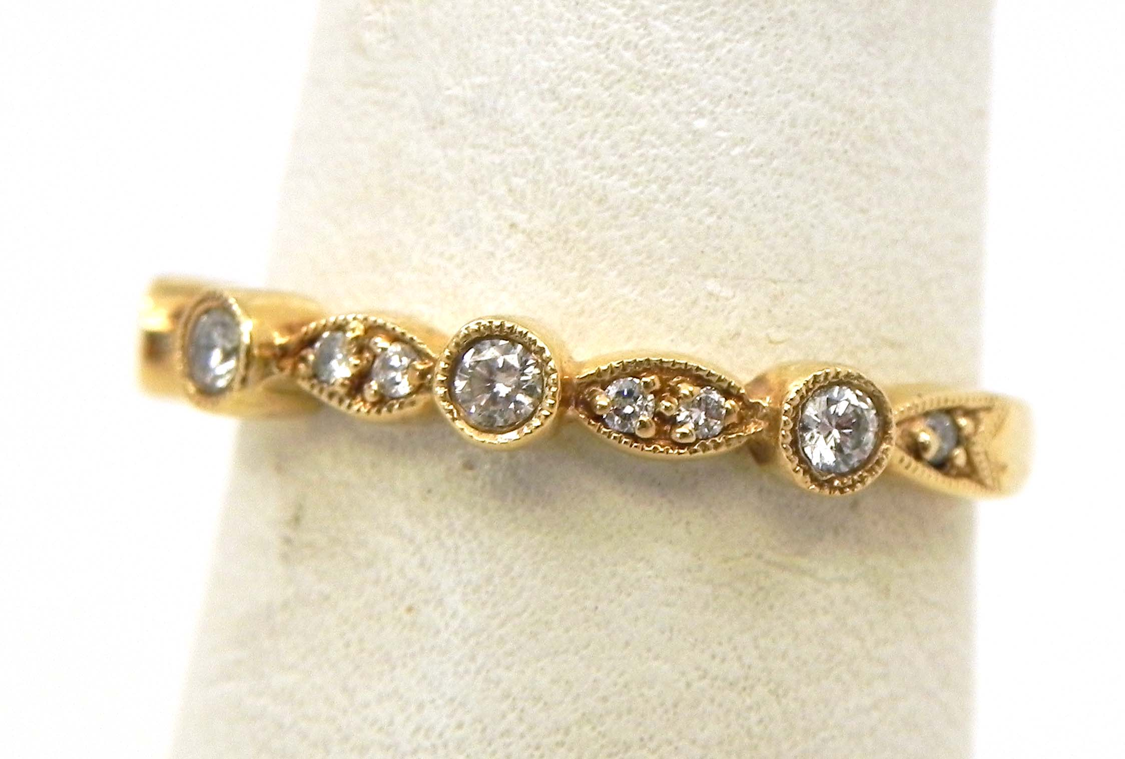 vintage channel diamond intended gold wedding rings bands popular for i in yellow band set