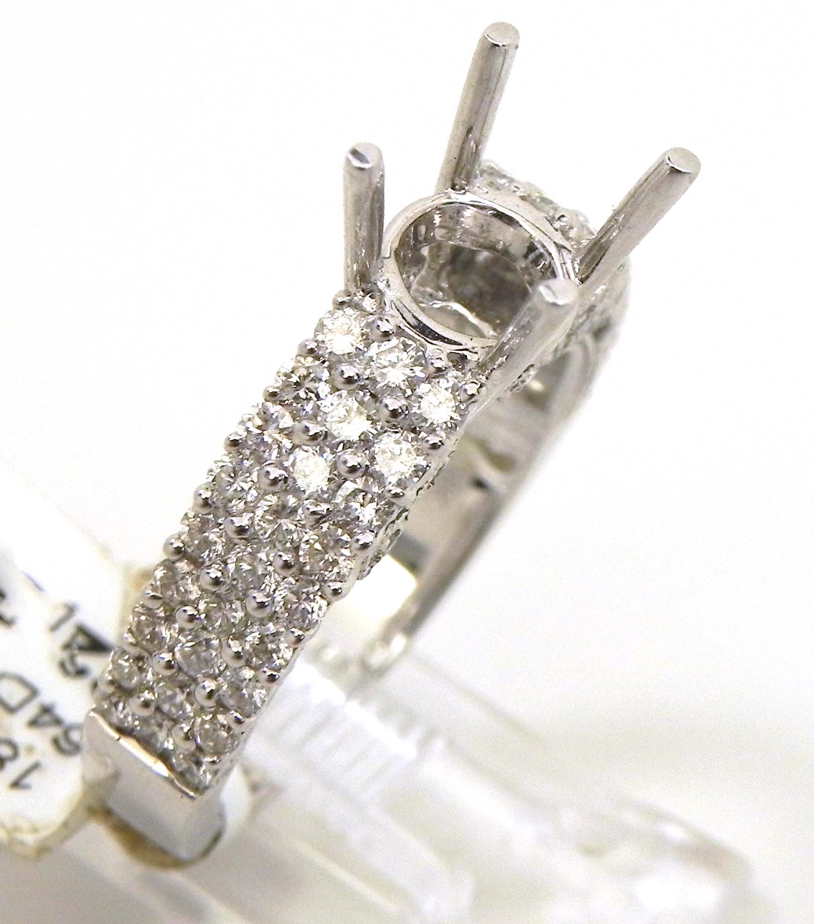18k white gold 1 09 cts diamonds semi mount