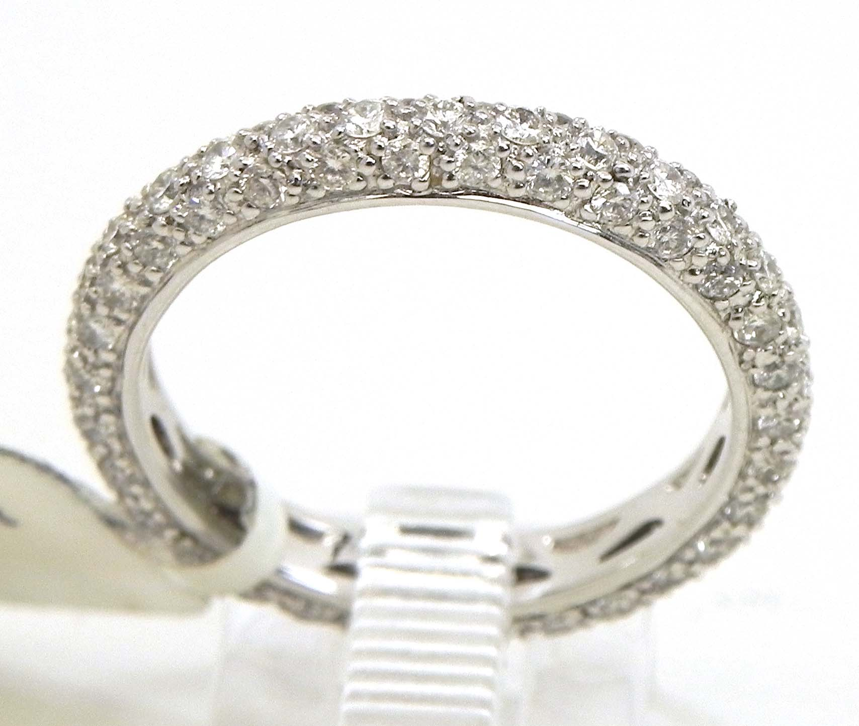 ladies 18k white gold 3 row diamonds eternity wedding band eternity wedding bands Diamonds Eternity Wedding Band 00 Previous Next