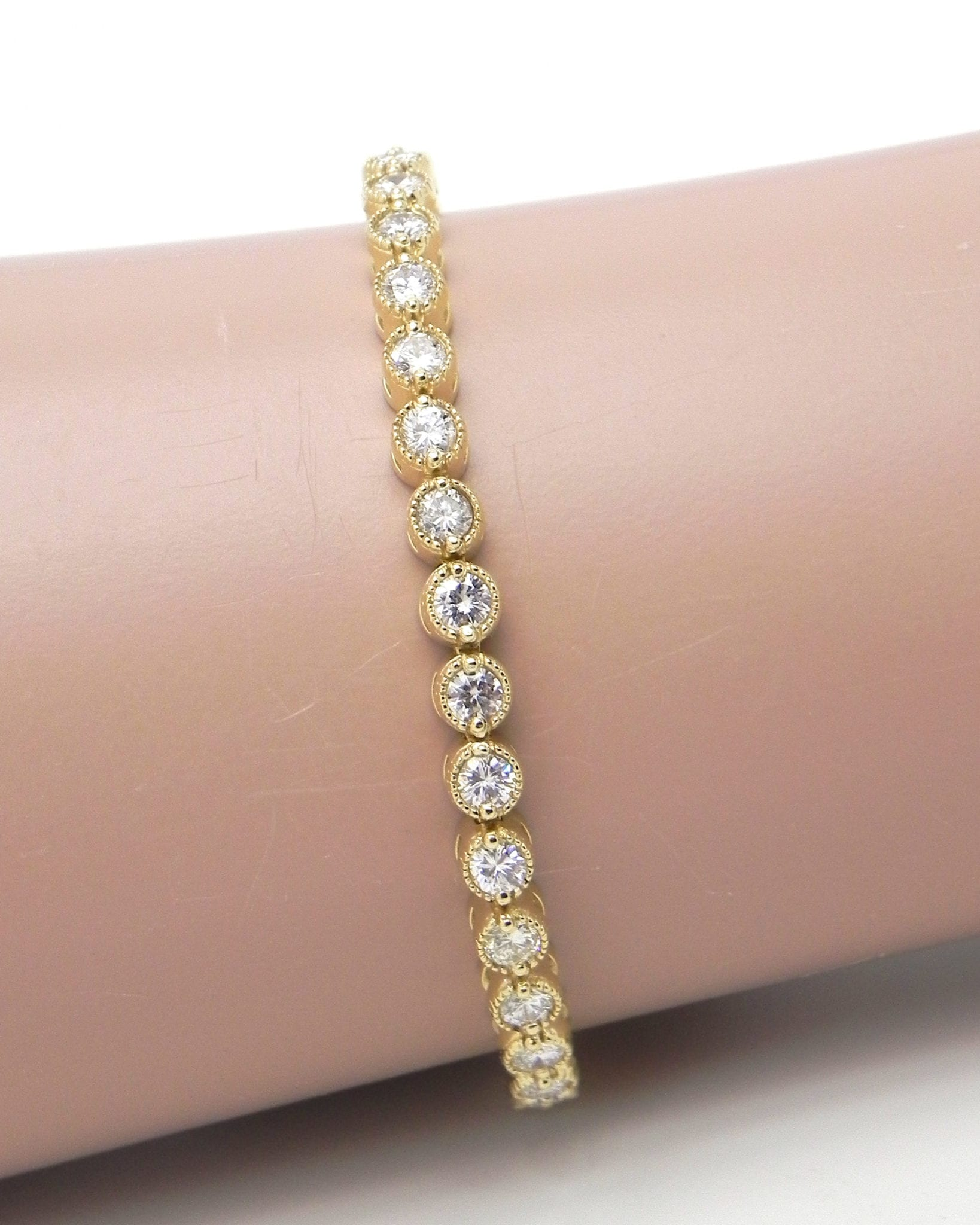 bracelet gold bangle yellow flexible products stone bangles wg diamond