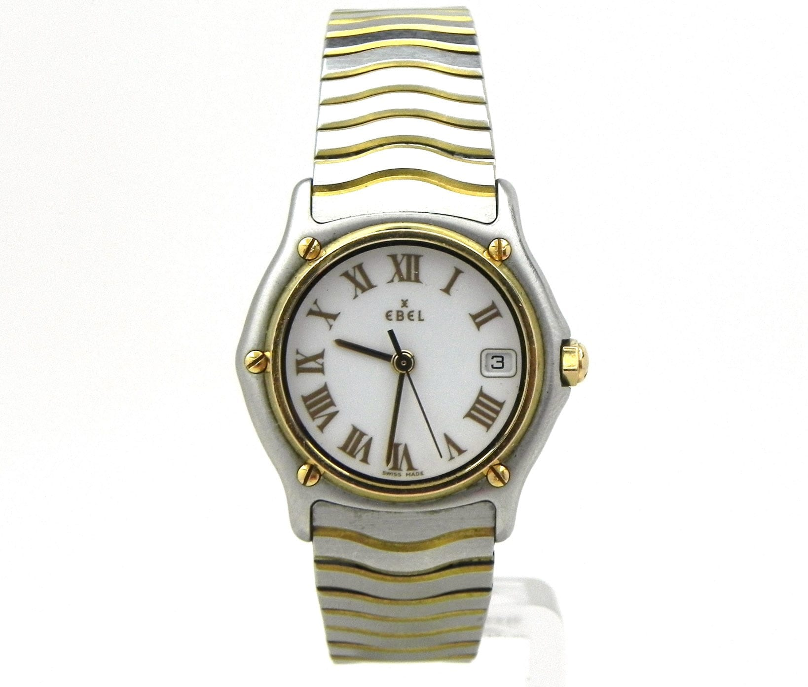 ebel sport classique wave 18k yellow gold ss