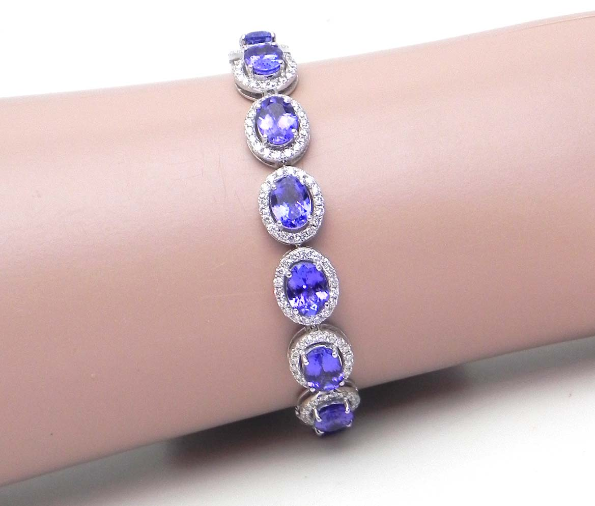 shop and maelotti bracelet tanzanite crafted unique jewellery hand