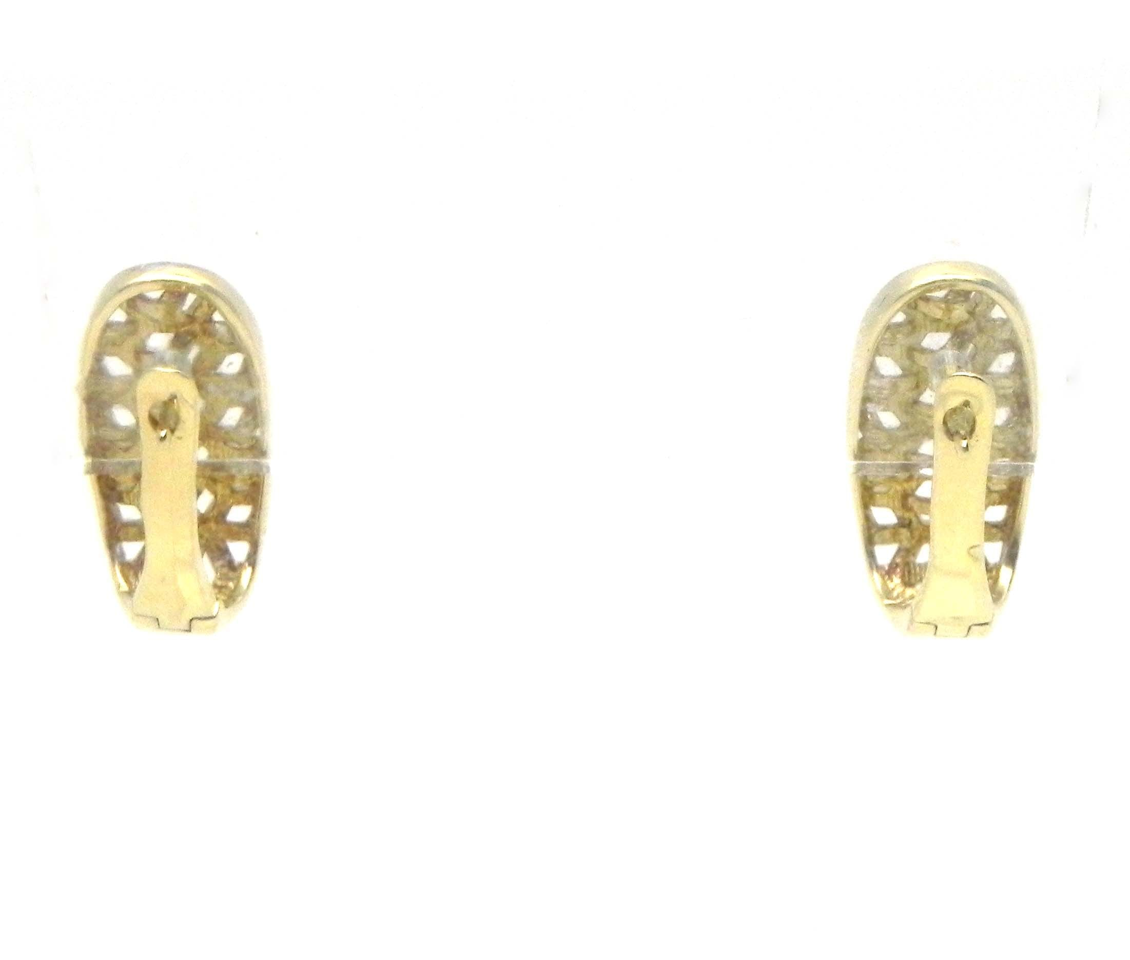 products snap gold hollow hoop earrings closures back w yellow grams