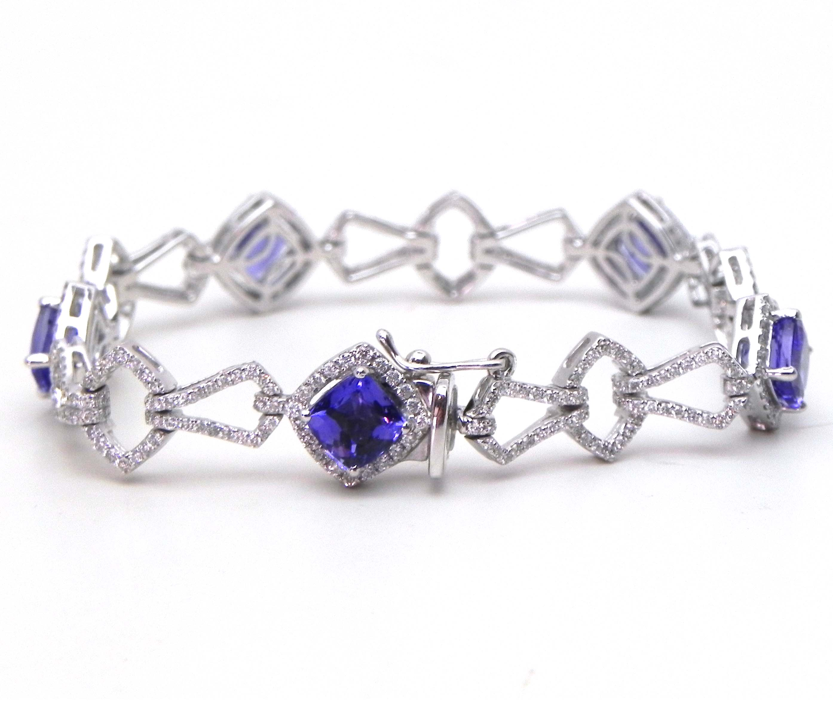 princess collection tanzanite white gold and diamond signature cocktail engagement miadora cut pin tdw