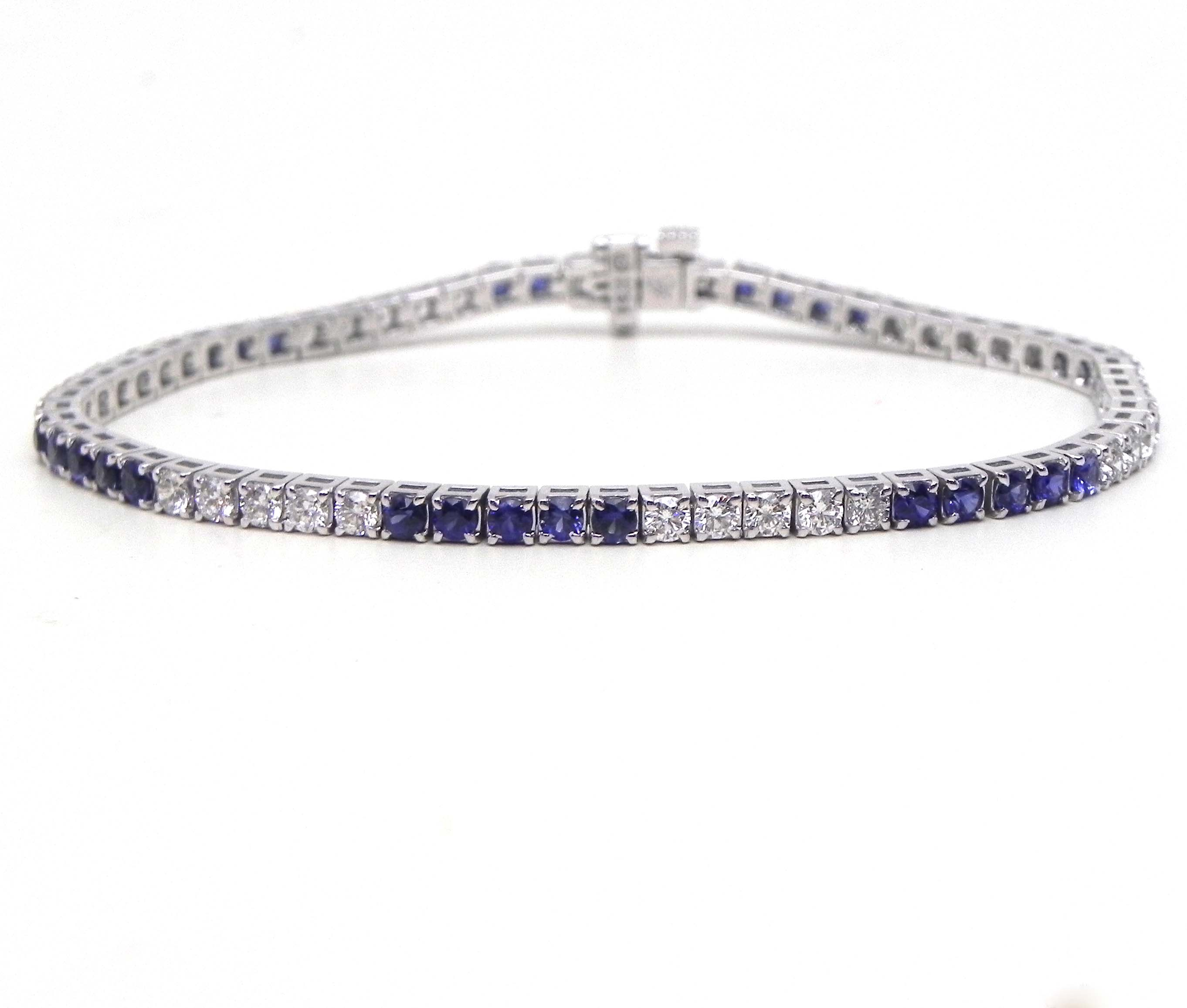 gabriel bracelet diamond gold white and sapphire fashion bracelets bangles bangle
