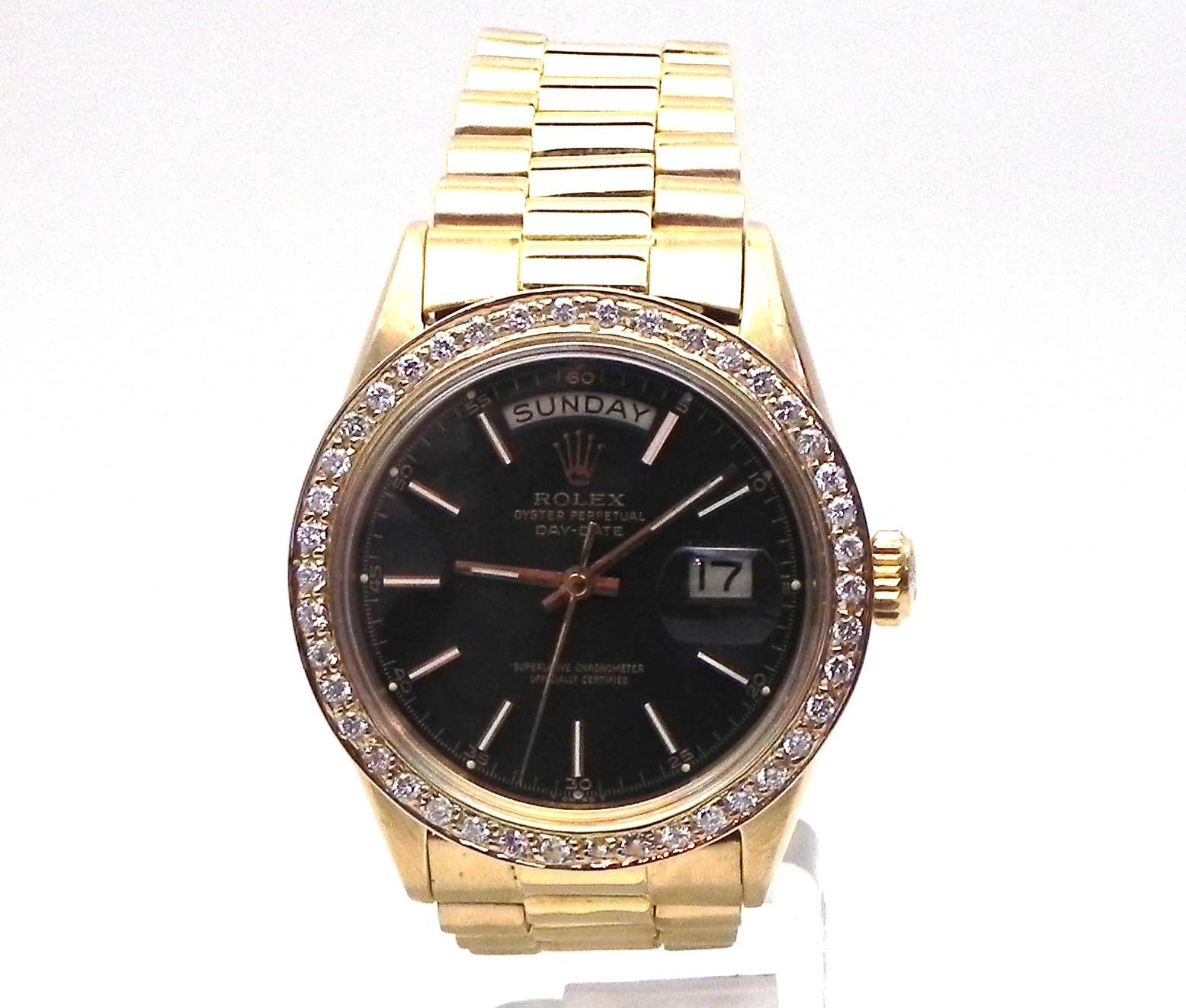diamond yellow ladies rolex dial watch mm president presidential gold room property champagne l watches
