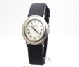 Bueche Girod Oval 18k White Gold White Dial Quartz Watch