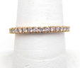 Ladies 14k Pink Gold Diamonds Eternity Style Band Ring