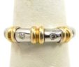 Ladies 14k Two-Tone Diamonds Wedding Band