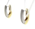 Ladies 14k Two-Tone Oval Hoop Reversible Earrings