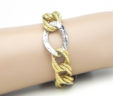 Ladies 14k Two-Tone Oval Link Bracelet