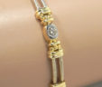 Ladies 14k Two-Tone Diamond Oval Link Bracelet