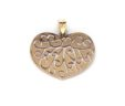 Ladies 14k Two-Tone Scrolled Heart Pendant