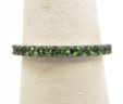 Stackable Ladies 14k White Gold 1.26 Cts. Green Garnet Eternity Wedding Band