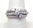 Ladies 14k White Gold 1.50 Cts. 3 Strand Diamond Band