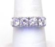 Ladies Diamond 14k White Gold 1.50 Cts. 4 Stone Band Ring