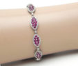 Ladies 14k White Gold 1.80 Cts. Diamonds & Rubies Bracelet