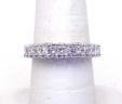 Ladies 14k White Gold 3.75 Cts. Diamond Size 6 3/4 Eternity Band Ring