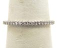Ladies 14k White Gold Diamonds Wedding Ring