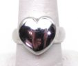 Ladies 14k White Gold Heart Ring