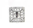 Ladies 14k White Gold Squared Semi-Mount .80 Cts. Diamonds Earrings