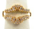 Ladies 14k Yellow Gold 1/2 Carats Diamonds Jacket Ring