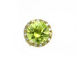 Ladies 14k Gold 2 Cts. Round Peridot Diamonds Surrounding Stud Earrings