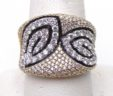 Ladies 14k Yellow Gold 2.02 Cts. Diamonds Swirl Design Band Ring