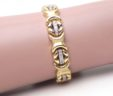 Ladies 14k Yellow Gold 2.02 Cts. Diamonds X O Link Bracelet