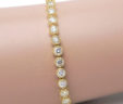 Ladies 14k Yellow Gold 3.80 Cts. Diamonds Tennis Bracelet