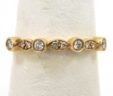 Stackable Ladies 14k Yellow Gold Diamonds Wedding Ring