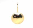 Ladies 14k Yellow Gold Drop Semi Sphere Wire Back Earrings