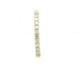 Ladies 14k Yellow Gold Huggie Back Diamonds Earrings