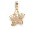 Ladies 14k Yellow Gold Open Deco Star Fish Pendant