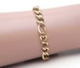 Ladies 14k Yellow Gold Twisted Figaro Link Bracelet