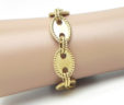 Ladies 14k Yellow Gold Oval Link Bracelet