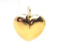 Ladies 14k Yellow Gold Puffed Heart Leverback Earrings