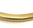 Ladies 14k Yellow Gold Ribbed Stretch 39 Gram Necklace