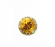 Ladies 14k Yellow Gold Round 2 Cts. Citrine & Diamonds Earrings