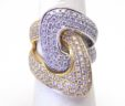 Ladies 18k Two-Tone 2.22 Cts. Diamonds Large Knot Ring