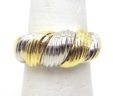 Ladies 18k Two-Tone Twist Top Ring
