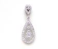 Ladies 18k White Gold 1.04 Cts Diamonds Pear Shaped Center Dangle Pendant