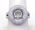 Ladies 18k White Gold 1.26 Cts. Diamonds Cushion Top Semi-Mount