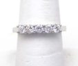 Ladies 18k White Gold 3/4 Carat 5 Stone Diamond Band Ring