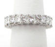 Ladies 18k White Gold 4.77 Cts. Princess Cut Diamonds Eternity Band