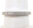 Ladies 18k White Gold Diamonds Eternity Wedding Band