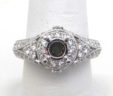 Ladies 18k White Gold 1.02 Cts. Diamonds Round Top Semi-Mount